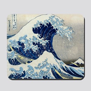 Pillow Hokusai Wave Mousepad