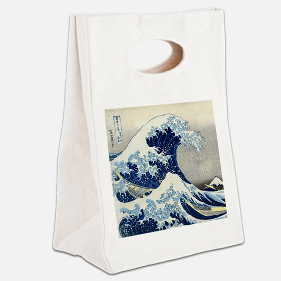 Pillow Hokusai Wave Canvas Lunch Tote