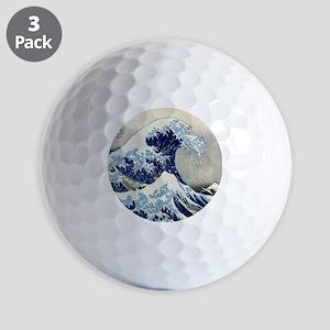 Pillow Hokusai Wave Golf Balls