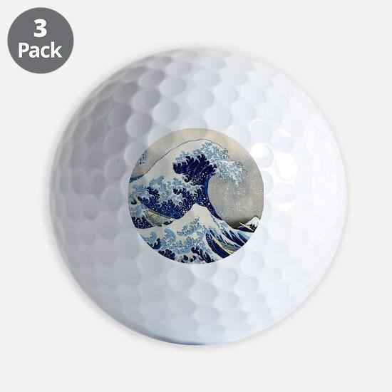 Pillow Hokusai Wave Golf Ball