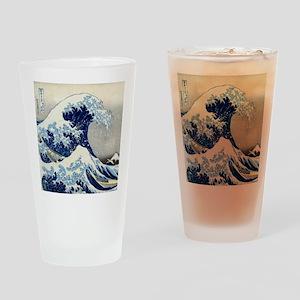 Pillow Hokusai Wave Drinking Glass