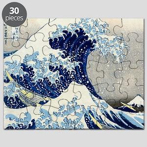 Pillow Hokusai Wave Puzzle