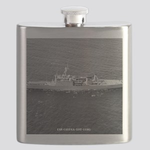 cayuga framed panel print Flask