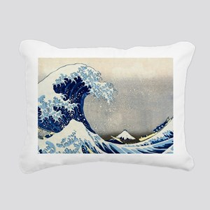 Bag Hokusai Wave Rectangular Canvas Pillow
