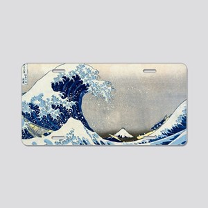 Bag Hokusai Wave Aluminum License Plate