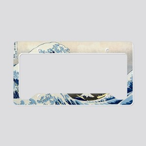 Bag Hokusai Wave License Plate Holder