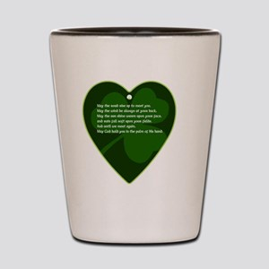 IRISH-BLESSING-HEART-CHARM Shot Glass