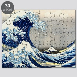 Laptop Hokusai Wave Puzzle