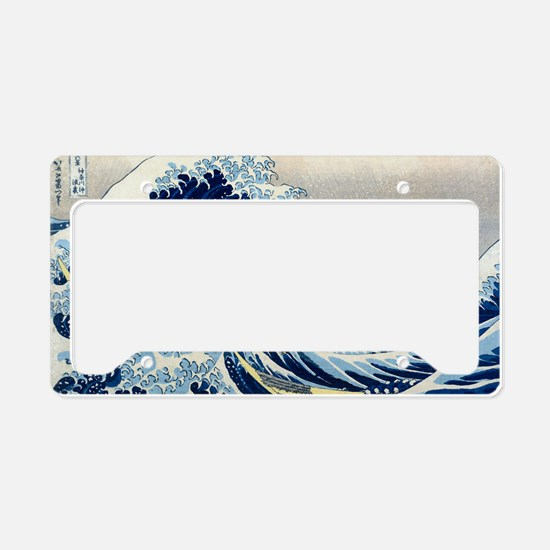 Laptop Hokusai Wave License Plate Holder