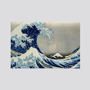 Laptop Hokusai Wave Rectangle Magnet