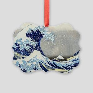 Laptop Hokusai Wave Picture Ornament