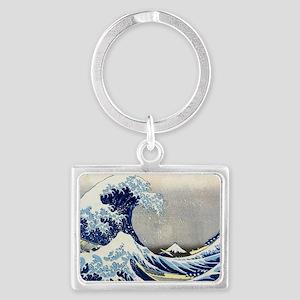 Laptop Hokusai Wave Landscape Keychain