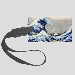 Laptop Hokusai Wave Large Luggage Tag