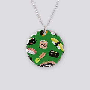 sushipillow3 Necklace Circle Charm