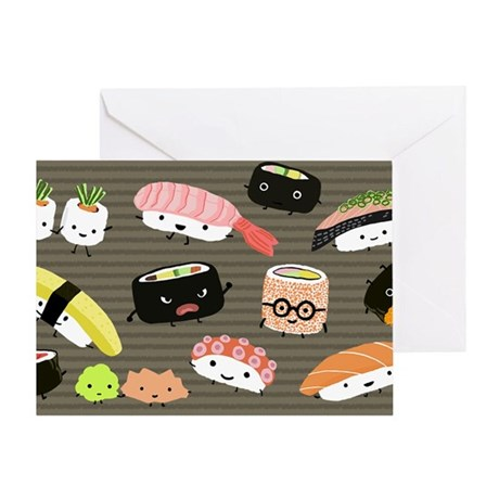 sushitoiletry Greeting Card