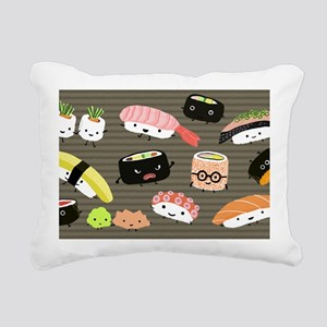 sushitoiletry Rectangular Canvas Pillow