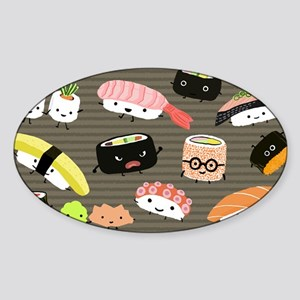 sushitoiletry Sticker (Oval)