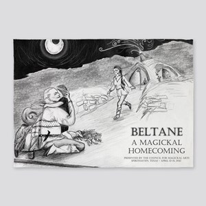 Beltane A Magickal Homecoming - Lin 5'x7'Area Rug