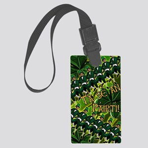GAELIC-PARTY-INVITATION Large Luggage Tag