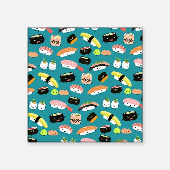"sushishowercurtain Square Sticker 3"" x 3"""