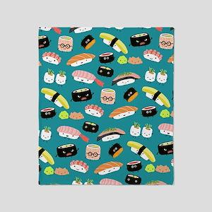 sushishowercurtain Throw Blanket