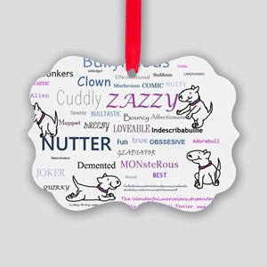 bully words Picture Ornament