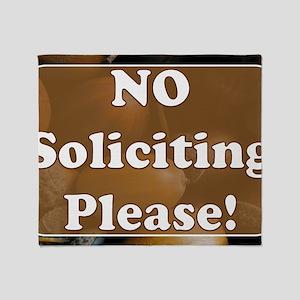 no solicit2 Throw Blanket
