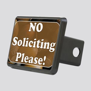 no solicit2 Rectangular Hitch Cover