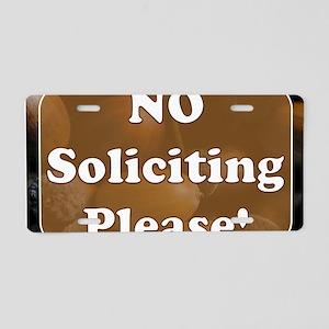 no solicit2 Aluminum License Plate