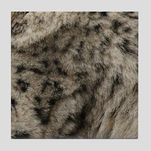 Snow leopard fur Tile Coaster