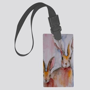 2 Hares Large Luggage Tag