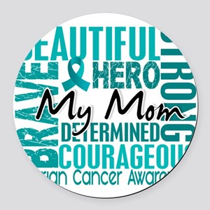 D Mom Round Car Magnet