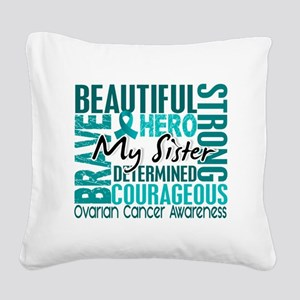 D Sister Square Canvas Pillow