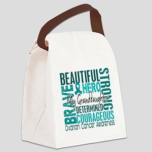 D Granddaughter Canvas Lunch Bag