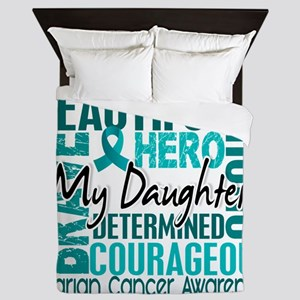 D Daughter Queen Duvet