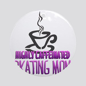 caffeine Round Ornament