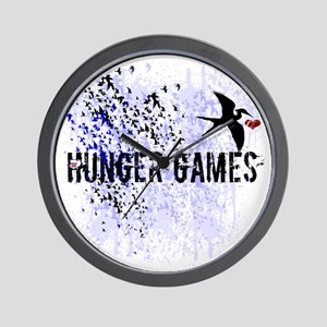 white hunger games grunge with mockingj Wall Clock