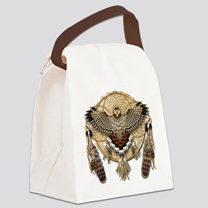 Red-Tailed Hawk Dreamcatcher Mand Canvas Lunch Bag