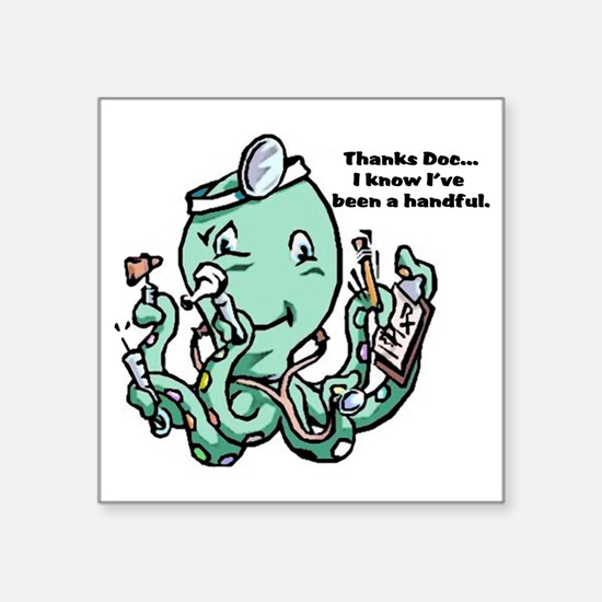 "dr Octopus Square Sticker 3"" x 3"""