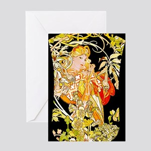 NOOK-MUCHA MARG COLOR Greeting Card