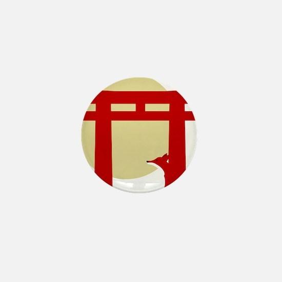 torii fox pale Mini Button