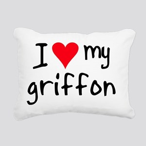 iheartwirehairedpointing Rectangular Canvas Pillow