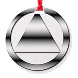 12 step recovery Round Ornament