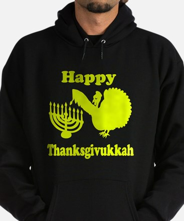 Happy Thanksukkah 3 yellow Hoodie