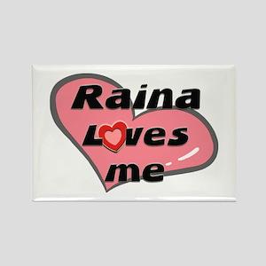 raina loves me Rectangle Magnet