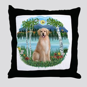 Birches-GOlden8 Throw Pillow