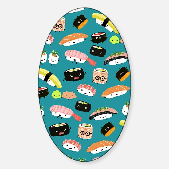 sushiflipflops Sticker (Oval)