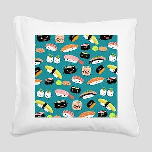 sushiflipflops Square Canvas Pillow