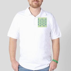 Shower Aqua Owl pattern green Golf Shirt