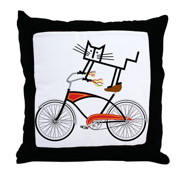 Throw Pillows With Bikes : Bicycle Throw Pillow by ADMIN_CP63104652